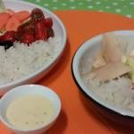 Ensalada de arroz y ventresca de Bonito del Norte