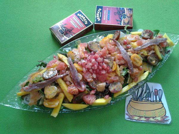 Ensalada fish & fruits