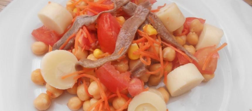 Ensalada de garbanzos con anchoas Serrats
