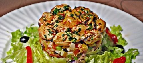Ensalada con mejillones en escabeche Serrats