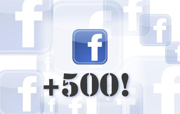Más de 500 seguidores en Facebook