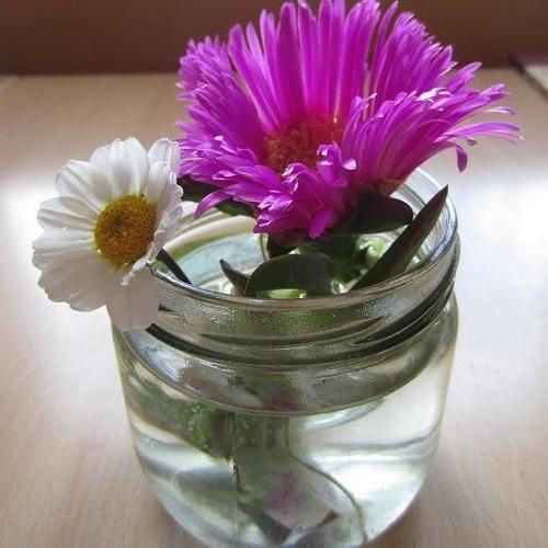 Florero, reutilizar frasco de conservas