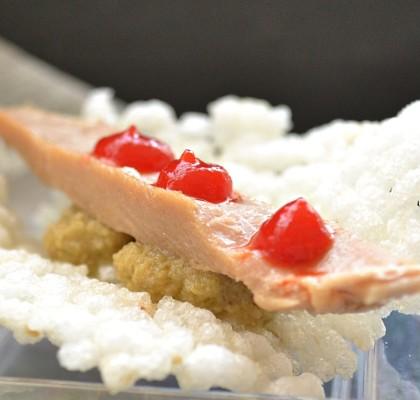 Galleta de arroz con ventresca de Bonito del Norte
