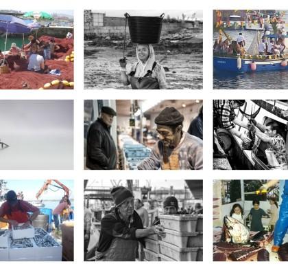Algunas de las fotos participantes en el concurso de fotografía sobre la gente de mar