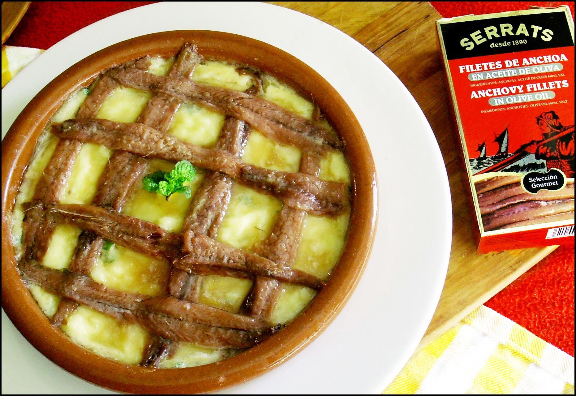 Patatas Gratinadas con anchoas