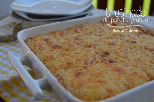 Pastel de patata y atún gratinado