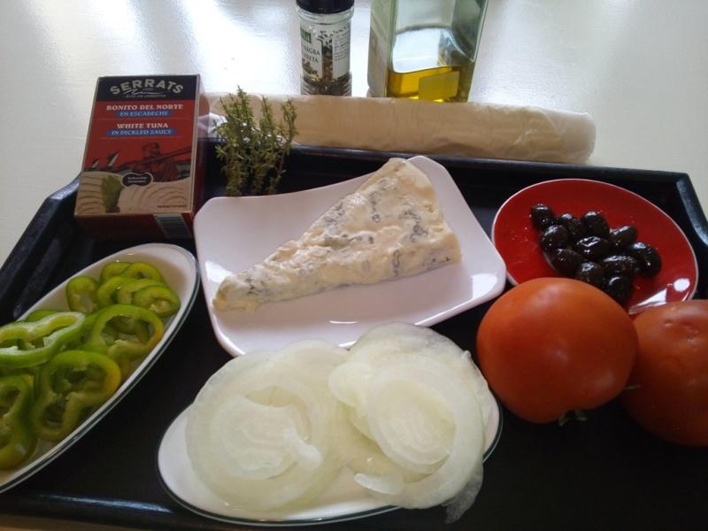 Ingredientes de las tartaletas de Bonito del Norte y Gorgonzola