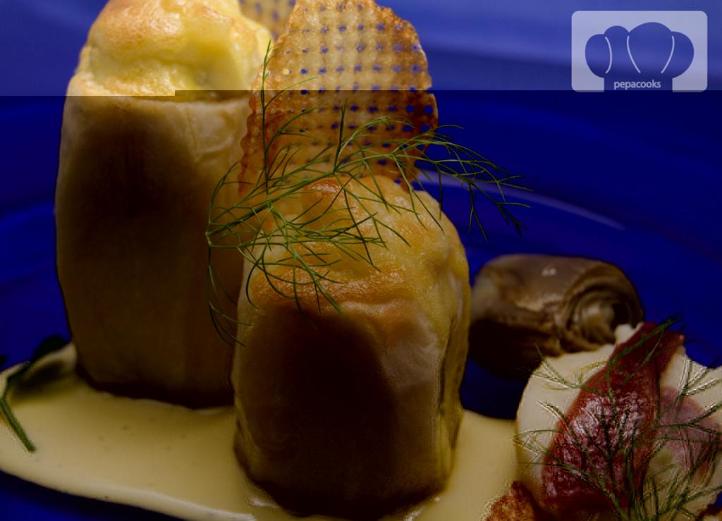 Patatas con corazón de anchoa