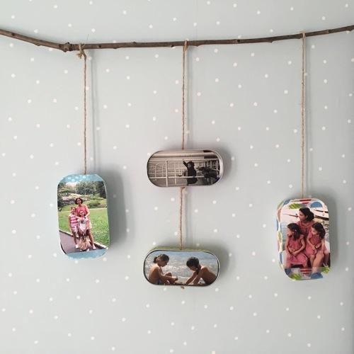 Marcos para fotos con latas