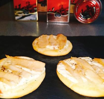 Minipizzas de carbonara y ventresca