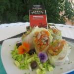 Rollitos de arroz con verduras y sardinillas