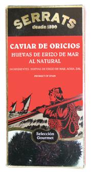Caviar de oricios al natural, nuevo producto Serrats