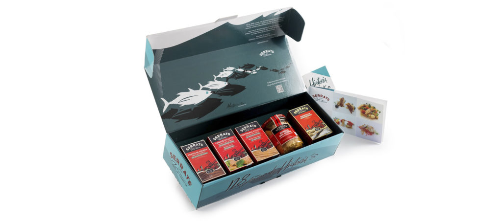Pack ARTE, con los 5 produtos estrella de Conservas Serrats