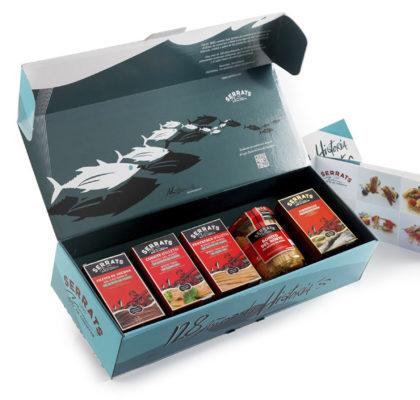 Pack ARTE, con los 5 produtos estrella de Conservas Serrats, premio para la receta ganadora