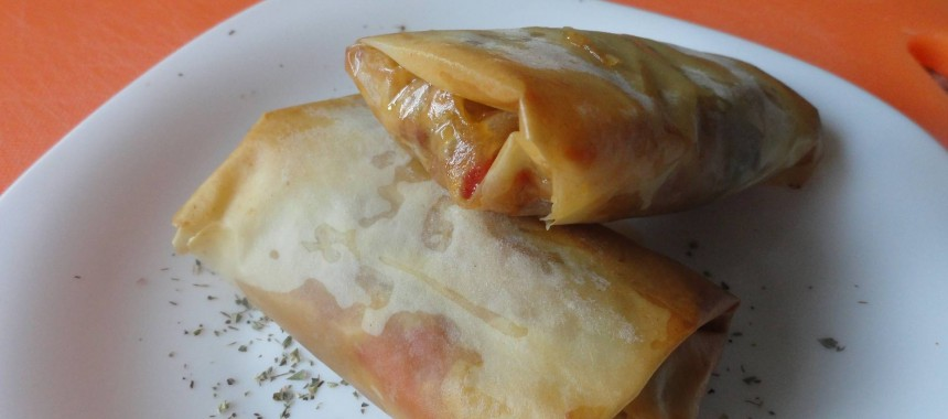 Rollitos de atún en pasta filo