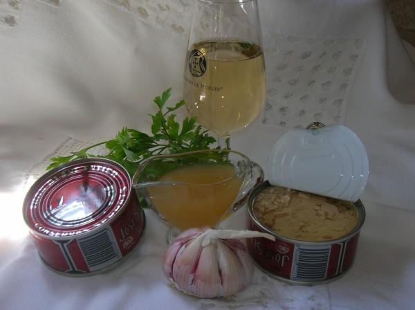 Los ingredientes necesarios para elaborar la salsa de Bonito