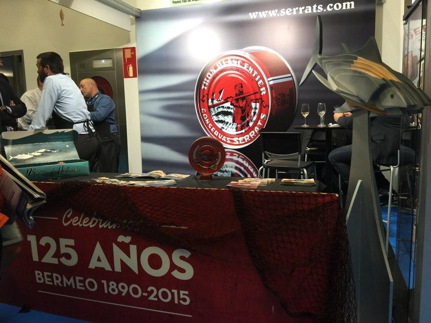 Stand de Conservas Serrats en San Sebastian Gastronomika