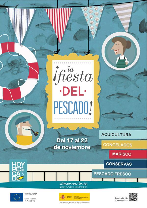 Cartel de la fiesta del pescado