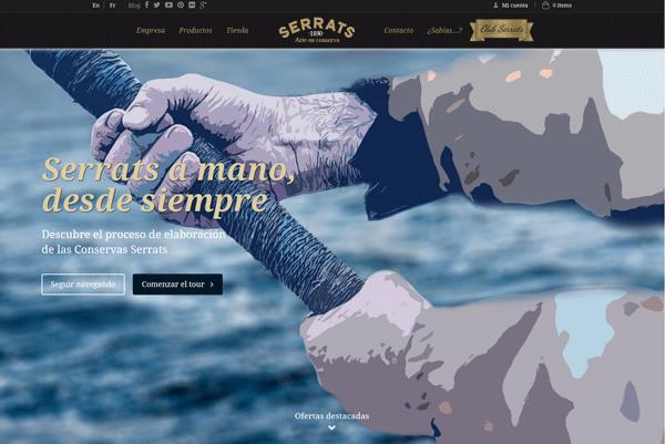 Proceso de elaboración de las conservas Serrats