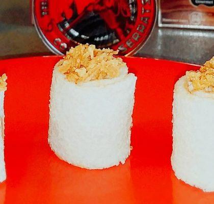 Sushi de pan blanco con Bonito del Norte