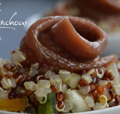 Tabulé de quinoa con anchoas