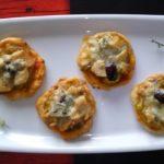 Canapés de Navidad: Tartaletas de Bonito del Norte y Gorgonzola