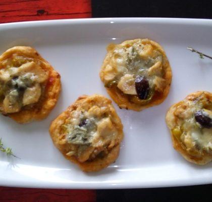 Tartaletas de Bonito del Norte y Gorgonzola