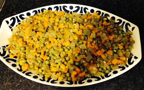 Dejar enfriar las verduras cocidas